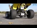 Quad Stunt Riding ATV Freestyle Stunts. Leo Stunt Suzuki LTZ 400 LTR 450 motobanda