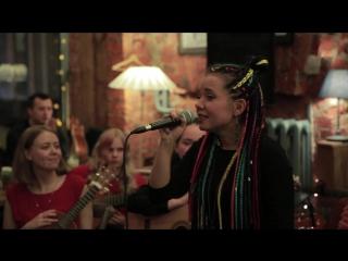 Snezhana Clefy & Oleg & Mila and her students - No woman No cry (Bob Marley cover)