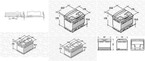 Стартерная аккумуляторная батарея; Стартерная аккумуляторная батарея для AUDI SUPER 90