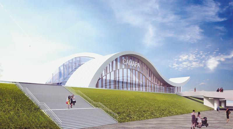 Всети интернет появились изображения нового речного вокзала вСамаре