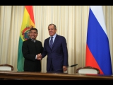 С.В.Лавров в ходе пресс-конференции по итогам переговоров с мининдел Боливии Ф.Уанакуни Мамани, Москва, 16 августа 2017 года