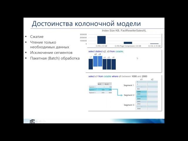 Колоночные индексы в SQL Server 2016