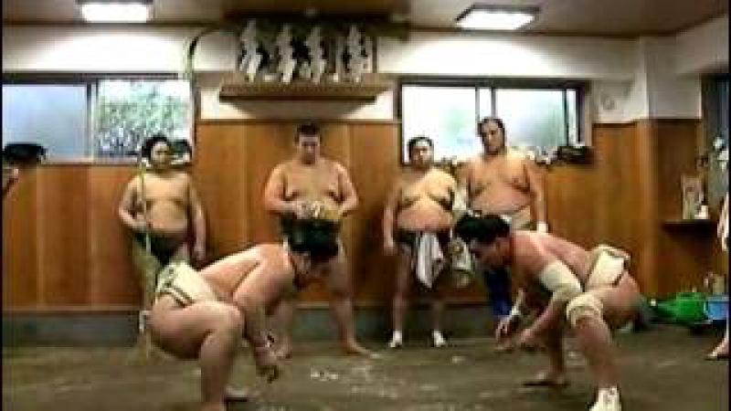 Asashoryu vs. Harumafuji sparring