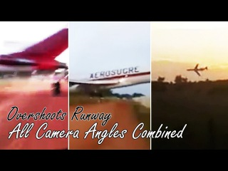 🔴 Colombian Boeing 727 Cargo Aircraft Crashed - All Camera Angles Combined (AeroSucre)