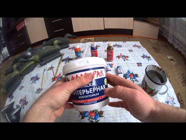 Как покрасить селезня кряквы