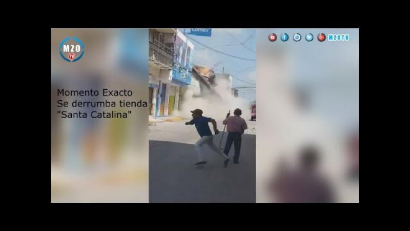 Se derrumba edificio Santa Catalina Juchitán de zaragoza, Oaxaca por sismo.