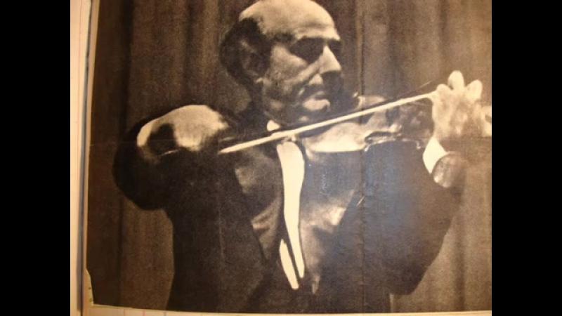 Daquin Manén Le coucou Joan Manén violin Live recording 1950