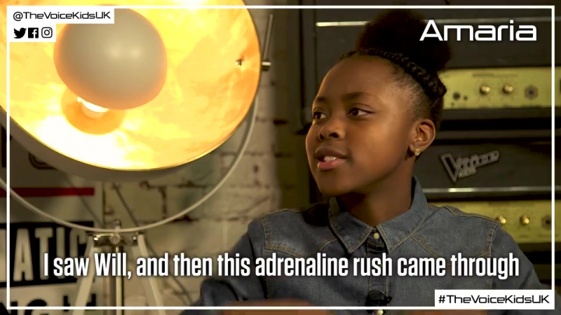 Amaria tells Cel what she's looking forward to learning from Pixie (The Voice Kids UK 2017)