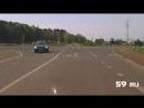 Момент аварии, унесшей жизни двух человек в Осинском районе