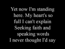 When you believe (Mariah Carey & Whitney Houston) - lyrics
