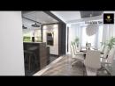 Projekt wnetrza kuchennego i salonu realizacja Vizual Form