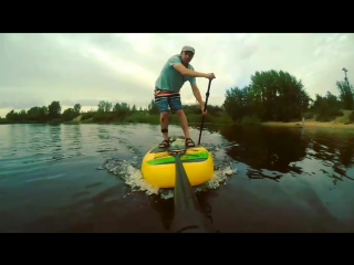 SUP surfing in Nighny Novgorod