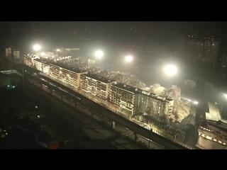 В Китае за 10 секунд взорвали 19 многоэтажек