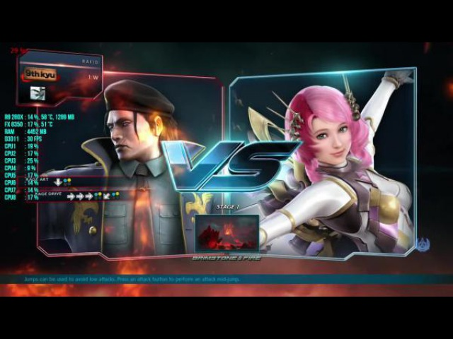 Tekken 7 : FPS Test R9 280X FX 8350