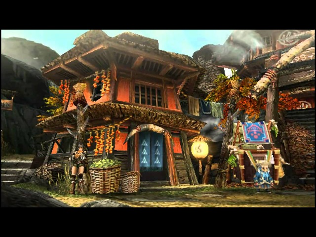 Monster Hunter Portable 3rd / 3 Yukumo Village Intro Part 2 HD [ MHP3 / MHP3rd ]
