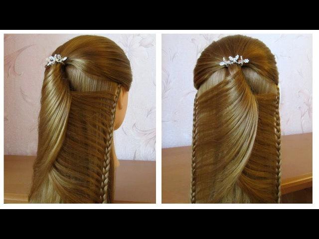 Tuto coiffure simple: belle coiffure facile à faire cheveux long /mi long 🌸 Coiffure pour fille