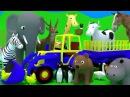 Развивающие мультфильмы. Сборник. Про животных. Про трактор на ферме. Зоопарк. Мультики про машинки