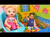 Bebek bakma oyunları YENİ! ??? Bebek oyuncak parkta kayboldu! Abla kardeş oyunu! #EvcilikOyunu