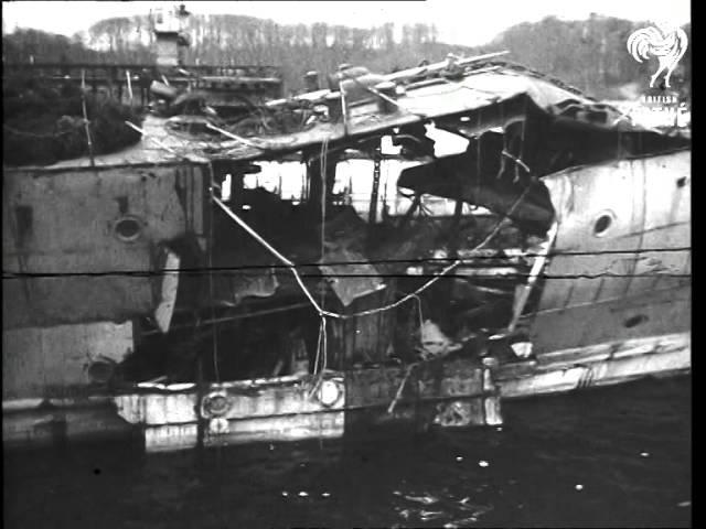 Shots Of Damaged Warships (1946)
