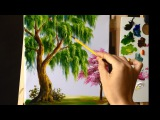 How to Paint a Tree with Acrylic Lesson 9