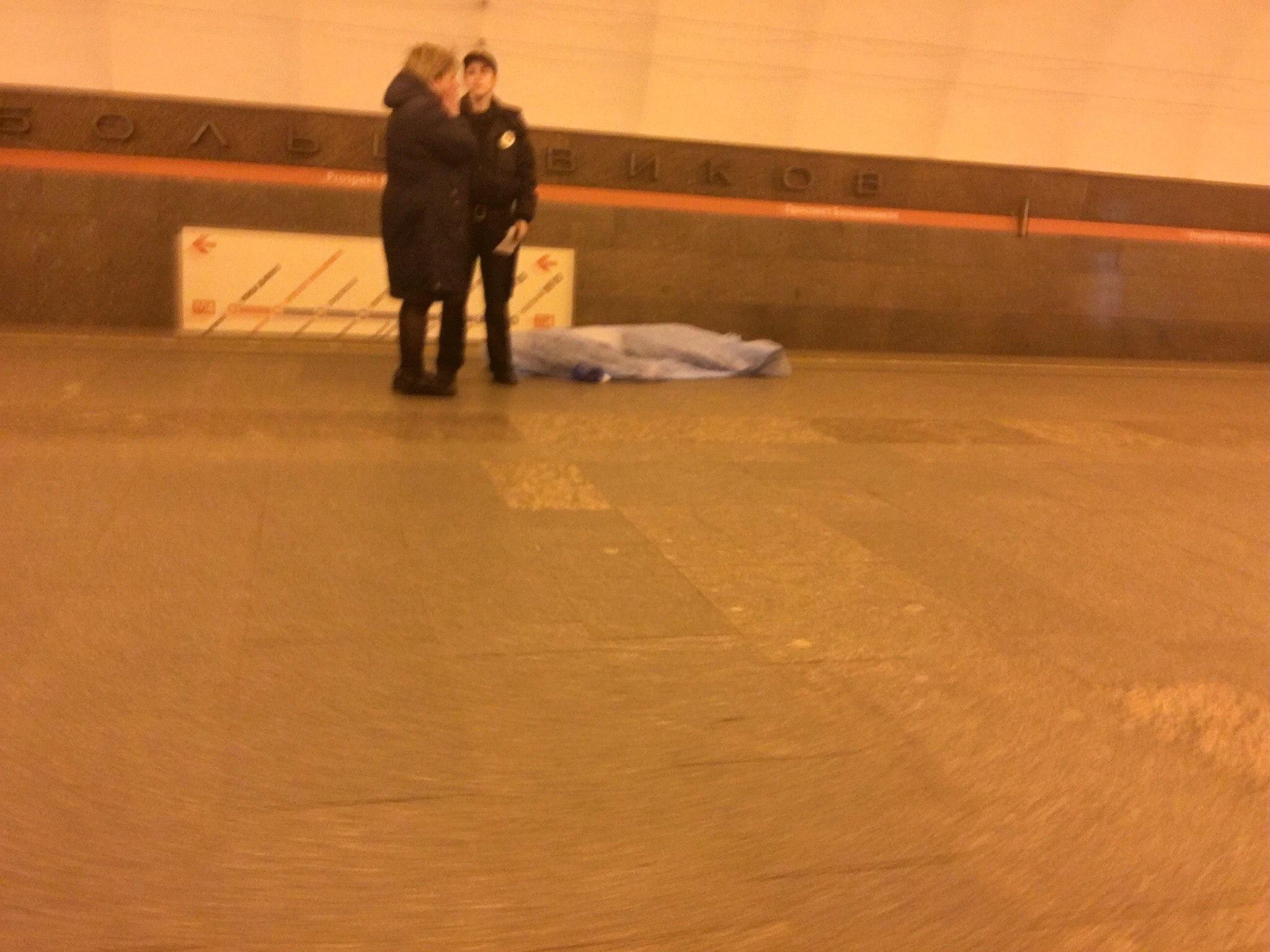 Настанции «Проспект Большевиков» скончался человек