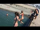 Сочи. Имеретинский пляж. Пирс. Даша и Катя))