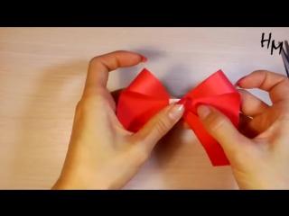 БАНТИК из бумаги оригами / How to make origami bow