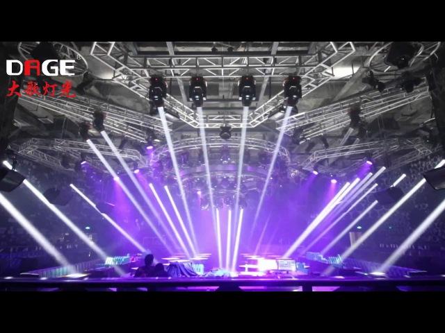 Night club lighting show-- DAGE Lights 7r beam moving head