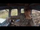 В кабине Т 40 во время трелёвки леса