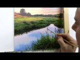 #59 HOW TO PAINT A RIVER BANK OIL PAINTING MICHAEL JAMES SMITH