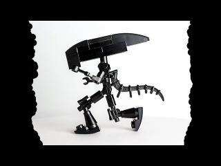 Free Lego Aliens Moc instructions to build a custom Xenomorph for Halloween