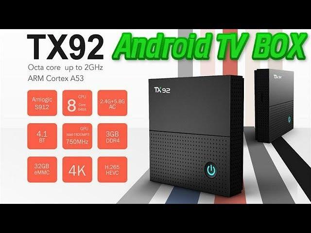 Vorke Z6 Tanix TX92 RAM DDR4 3GB. Amlogic S912 NEW Android TV Box