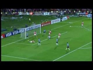 VARGAS PERDE O GOL DA CLASSIFICAÇÃO - Santa Fé 1x0 Grêmio - Libertadores 2013