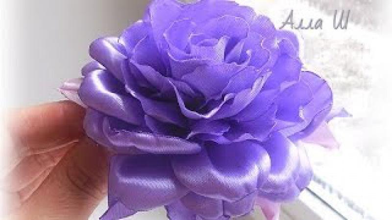 Роза из атласной ленты D I Y Rose of Satin ribbon