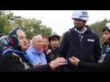 Бабушка из ЛНР замглаве СММ ОБСЕ Хугу: Саша, когда правда будет? Нам брехать не надо!