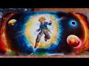 Trunks Dragón Ball Super Spray Paint Art