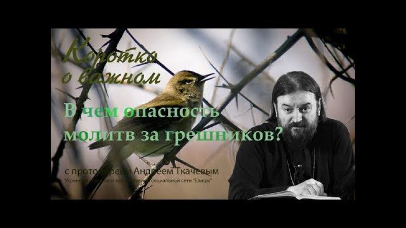 В чем опасность молитв за грешников? Протоиерей Андрей Ткачев