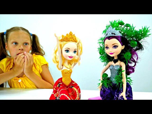 Куклы Эвер Афтер Хай в Школе Волшебства 🐸 Превращаем лягушку в принца! Игрушки ...