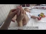 Гимнастика и массаж для малышей 3-4 месяцев  Gymnastics and massage for babies 3-4 months