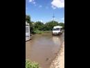 28 05 2017 автобус застрял в яме ул Полевая г Краснодар 1