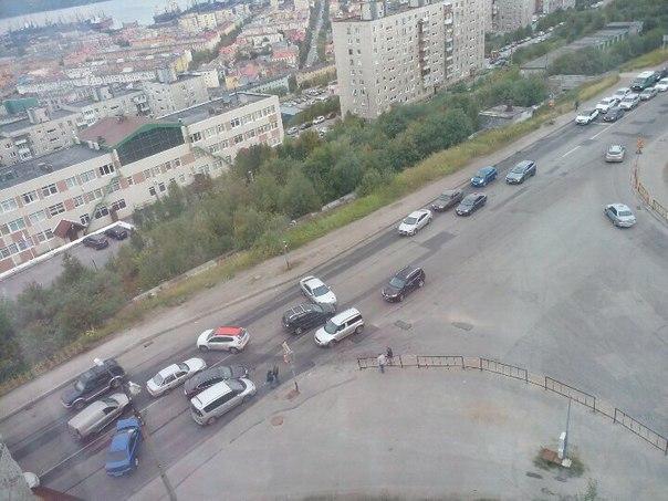В Мурманске столкнулись пять машин