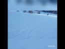Первый раз на сноуборде,третий час катания))