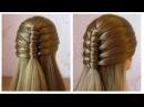 Tuto coiffure pour tous les jours (pour l'école / travail) ❀ Tresse simple et rapide