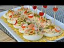 Huevos Rellenos de Salmón y Surimi Receta fría, fácil y Rápida