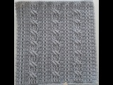 Crochet Cables  Square 1 Bars &amp Twists part 2 rows 5-6