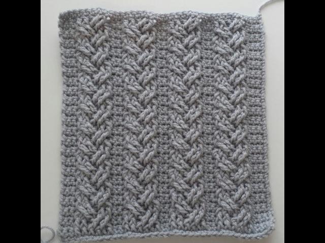 Crochet Cables, Single Plaited Cables, Part 2; Rows 5 - 6