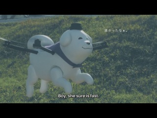 【FLYING DOG DRONE】Yukimaru Skywalker Takes a Stroll - The World's First Character Mascot Drone!(?)