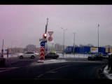 Видео ДТП у поворота на МегуДыбенко 17.01.2017 14.18