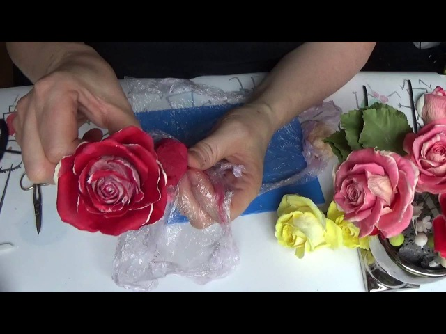 двухцветная роза из Silk Clay от Риты Two tone rose from Silk Clay by Rita
