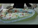 Гнездышко кокон для новорожденных своими руками выкройка babynest pattern English subtitles